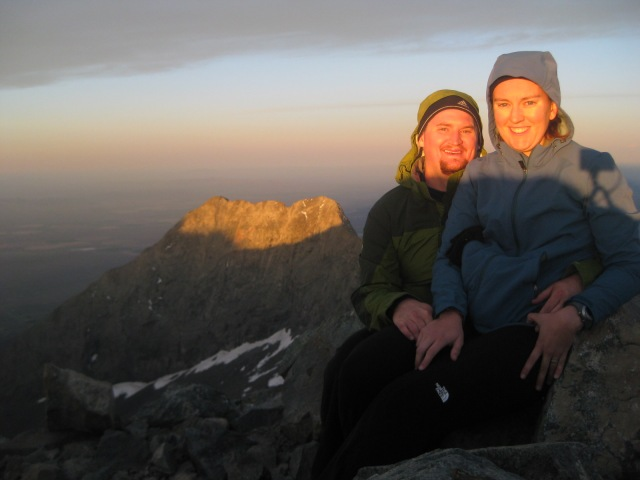 Watching the sun rise from my final 14'er, Blanca Peak, June 2012.