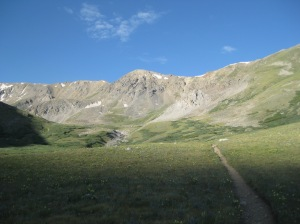 The Missouri Gulch in full summer (Mt Belford out of view to the left). Taken on my first trip to the basin, July 23, 2009.
