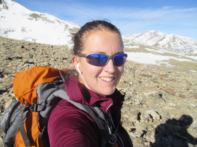 Mountain selfie. Happy birthday, headache.