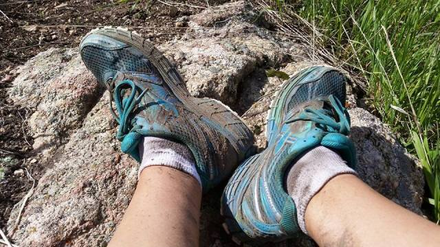 This Dirty 30 course was even dirtier than usual, thanks to Muddy May. After a soak and a scrub, my toes still aren't clean.