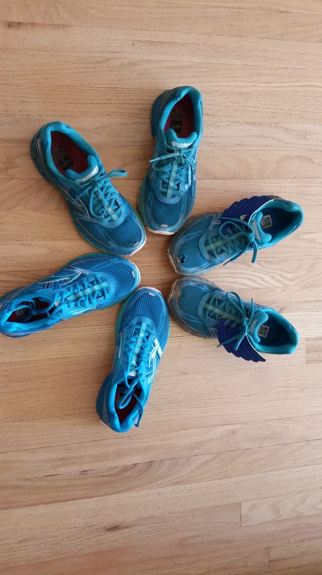 I have pairs and pairs of running shoes in various stages of ruin scattered around the house.