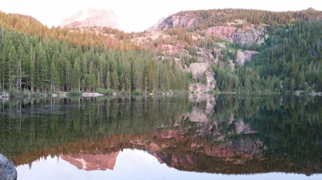 Bear Lake at 5 a.m., the starting point