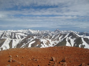 From the summit of Redcloud Peak, in the San Juans, the same range where this race is held.
